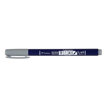 TOMBOW WS-BH49 Feutre brush Fudenosuke, pointe dure, gris