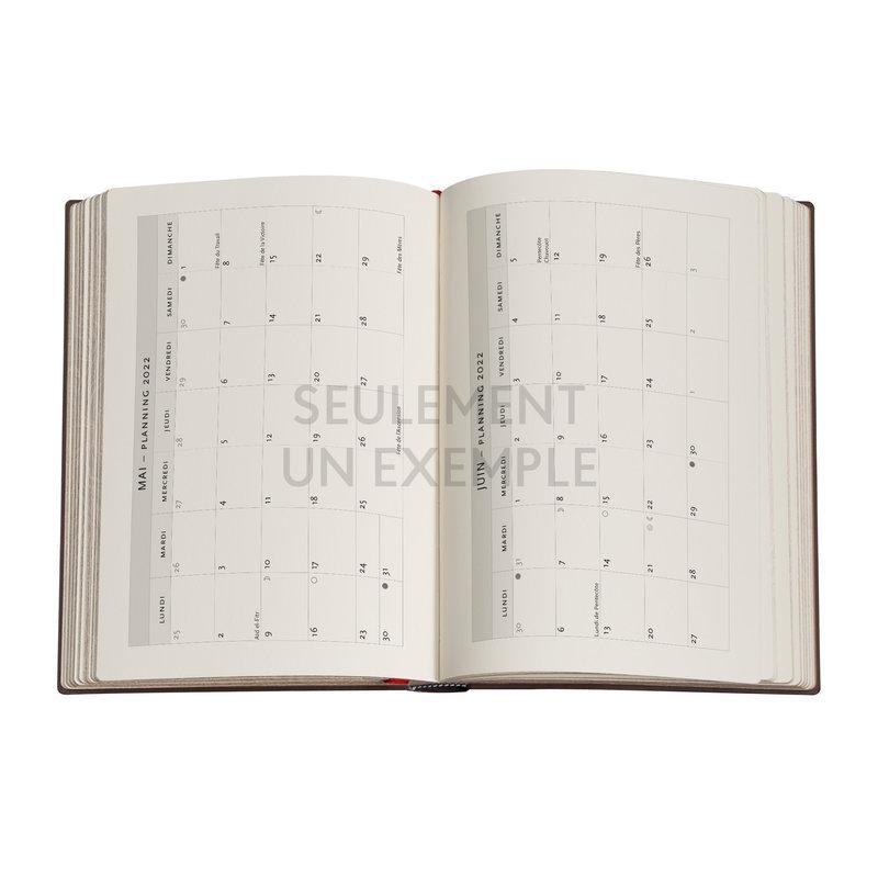 PAPERBLANKS Agenda 2022 1 jour/page Concord Midi