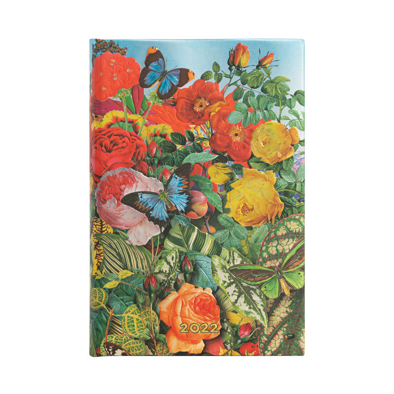 PAPERBLANKS Agenda 2022 1 jour/page Jardin aux Papillons Mini