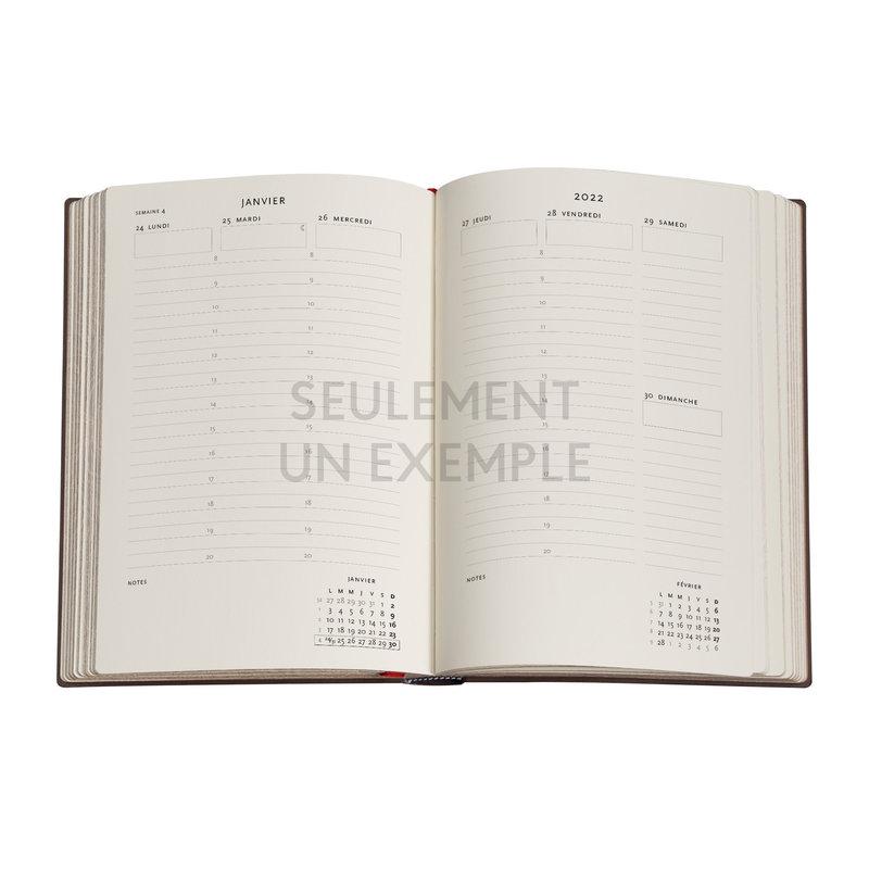 PAPERBLANKS Agenda 2022 semainier Clair de Lune Midi