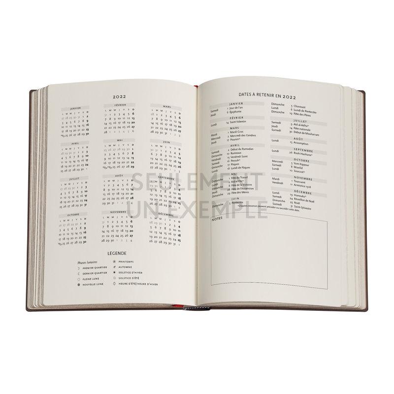 PAPERBLANKS Agenda 2022 semainier Les Vagues (Volume 3) Midi