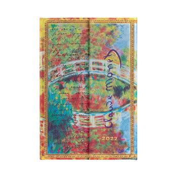 PAPERBLANKS Agenda 2022 semainier Monet (Le Pont), Lettre à Morisot Mini