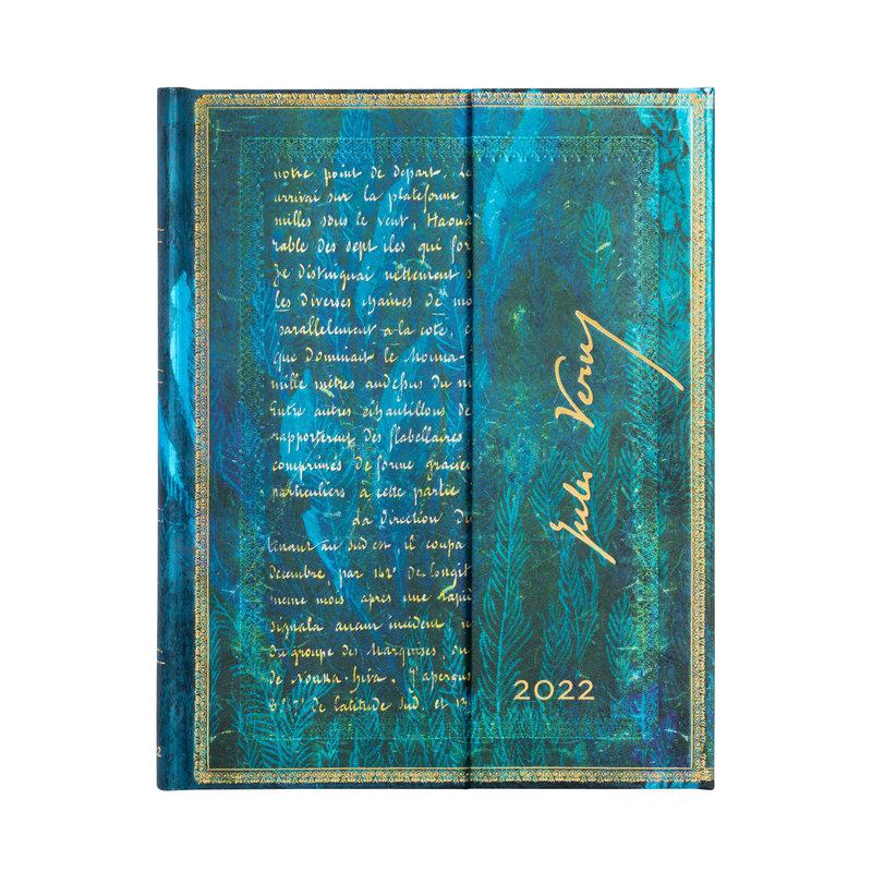 PAPERBLANKS Agenda 2022 semainier Verne, Vingt Mille Lieues Ultra