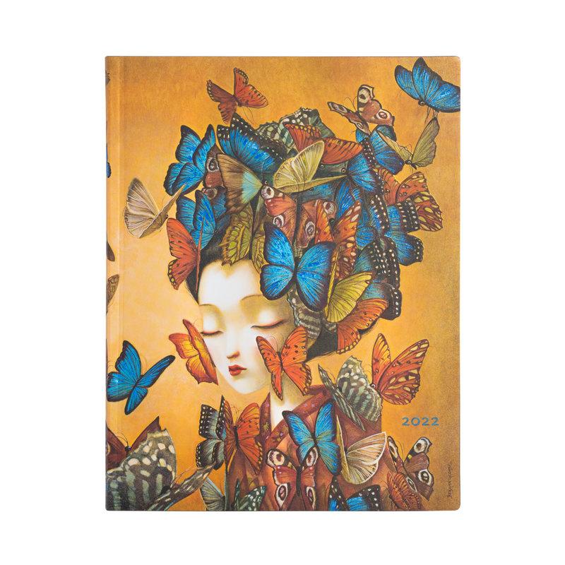 PAPERBLANKS Agenda Flexis 2022 semainier Madame Butterfly Ultra