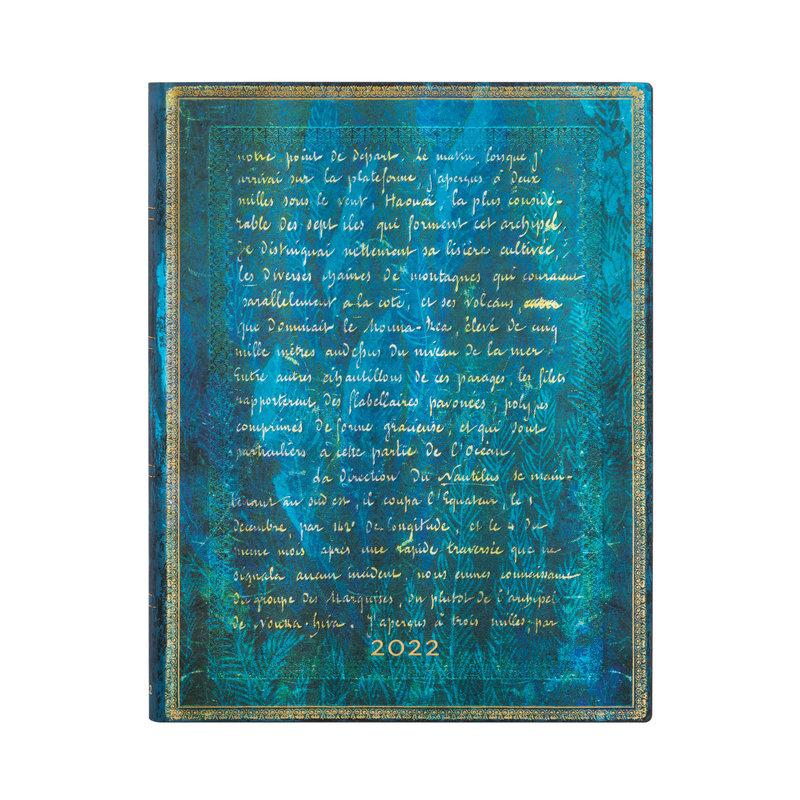 PAPERBLANKS Agenda Flexis 2022 1 jour/page Verne, Vingt Mille Lieues Ultra