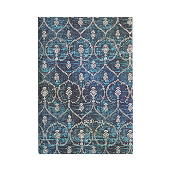 PAPERBLANKS Agenda scolaire semainier rep Velours Bleu 9,5x14cm