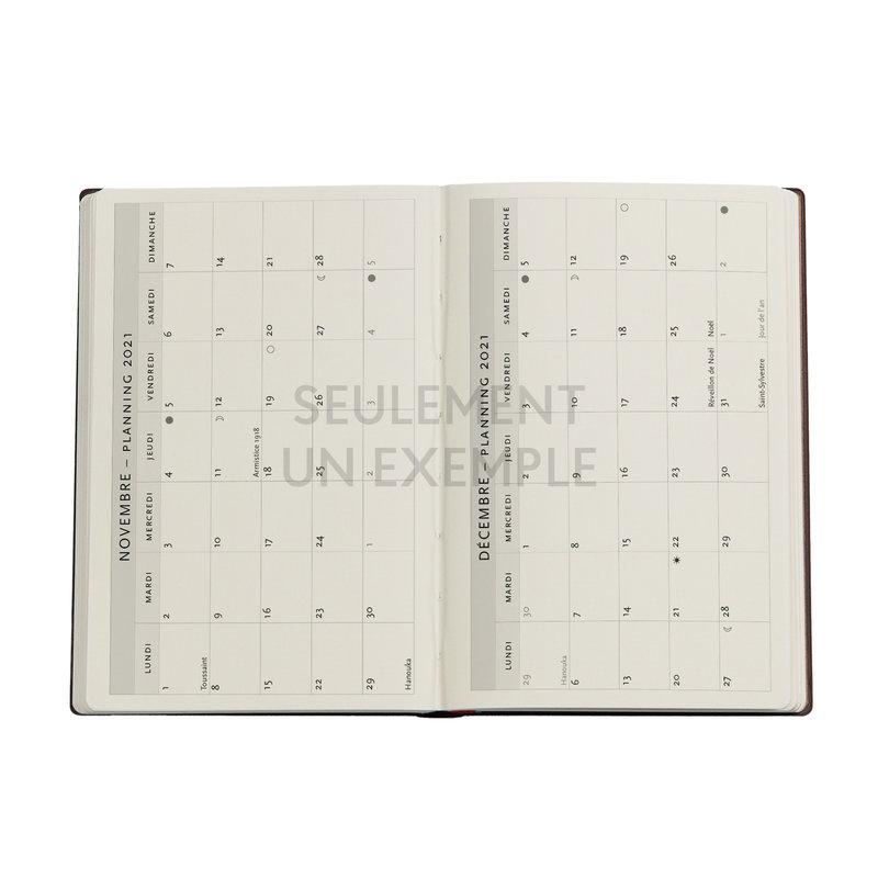 PAPERBLANKS Agenda scolaire semainier rep Jardin d'Olena 9,5x14cm