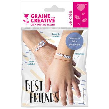 GRAINE CREATIVE Kit Bracelets A Messages Perles Alphabet Best Friends