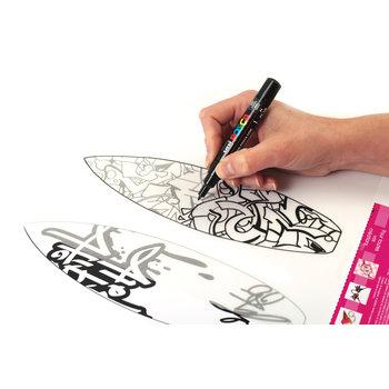 GRAINE CREATIVE Kit 3 Porte-Clefs Plastique Dingue Posca