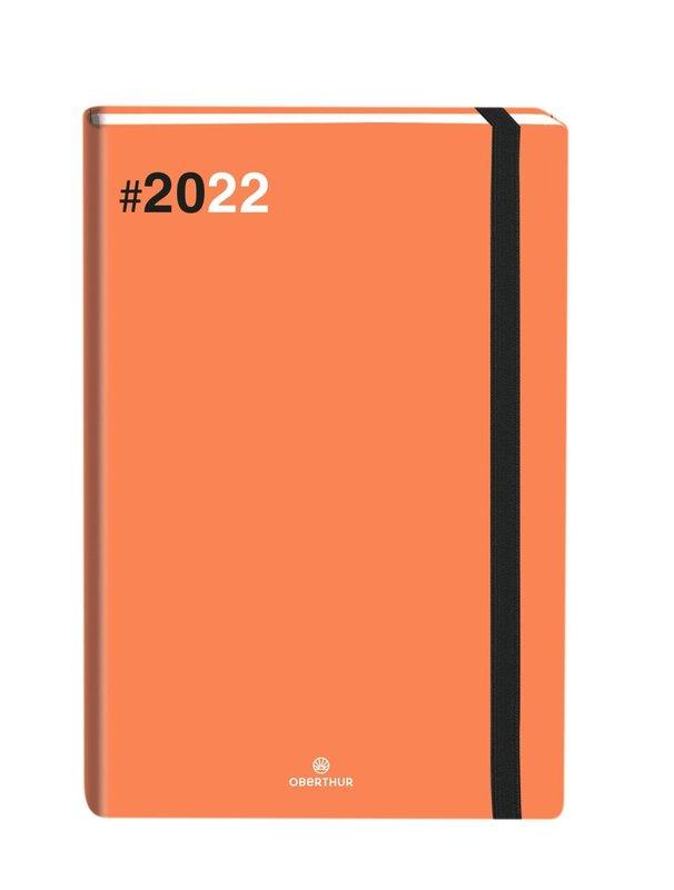 OBERTHUR Agenda civil Flex semainier horizontal 9x16,5cm Orange