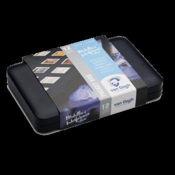 VAN GOGH Aquarelle Pocketbox 12 1/2 godets métallisées/irisées