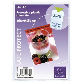 EXACOMPTA Etui de protection simple PVC - A6 - Cristal