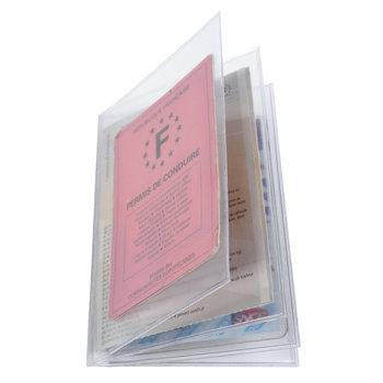 EXACOMPTA Etuis de protection multi-cartes 4 volets 8,8x13,8cm Cristal