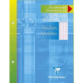 CLAIREFONTAINE Feuilles mobiles grands carreaux - 17x22 cm - 200 pages
