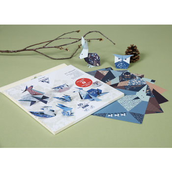 CLAIREFONTAINE Origami Pochette 60F 3 tailles - Décor Animaux