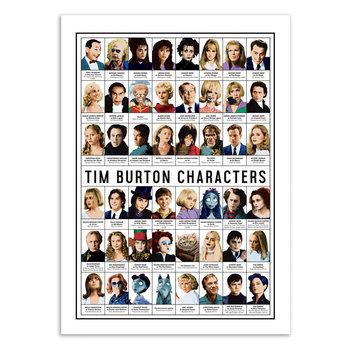 ART POSTER Tim Burton characters - Olivier Bourdereau - 30 x 40 cm