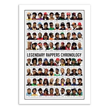 ART POSTER Legendary Rappers Chronology - Olivier Bourdereau - 50 x 70 cm