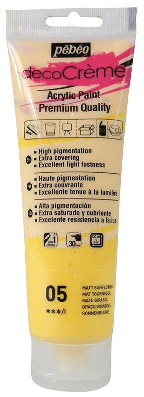 PEBEO Peinture acrylique decoCrème 120 ml - Tournesol