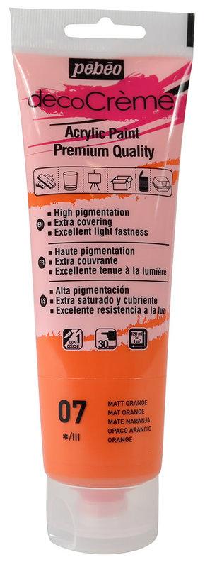 PEBEO Peinture acrylique decoCrème 120 ml - Orange
