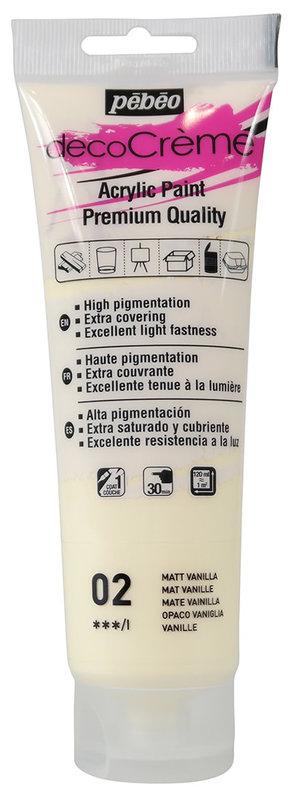PEBEO Peinture acrylique decoCrème 120 ml - Vanille
