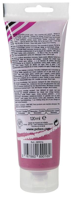 PEBEO Peinture acrylique decoCrème 120 ml - Pourpre