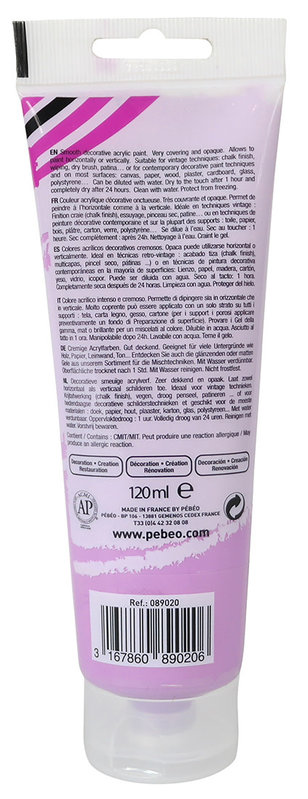 PEBEO Peinture acrylique decoCrème 120 ml - Violine