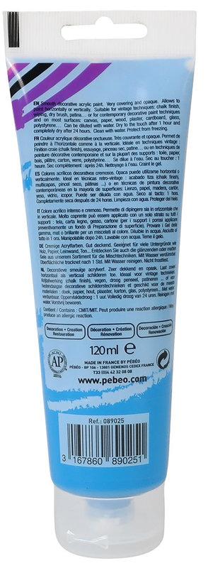PEBEO Peinture acrylique decoCrème 120 ml - Bleu roy