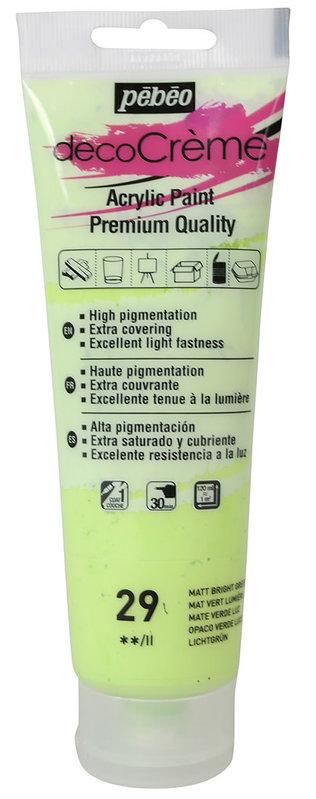 PEBEO Peinture acrylique decoCrème 120 ml - Vert lumière