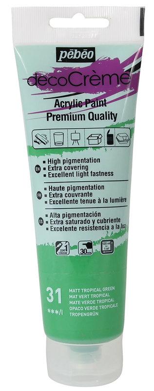 PEBEO Peinture acrylique decoCrème 120 ml - Vert tropical
