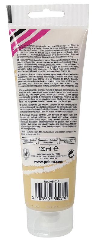 PEBEO Peinture acrylique decoCrème 120 ml - Jaune vert