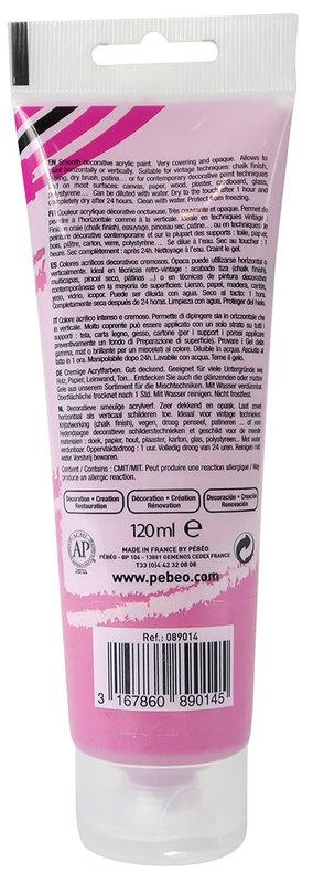 PEBEO Peinture acrylique decoCrème 120 ml - Pivoine
