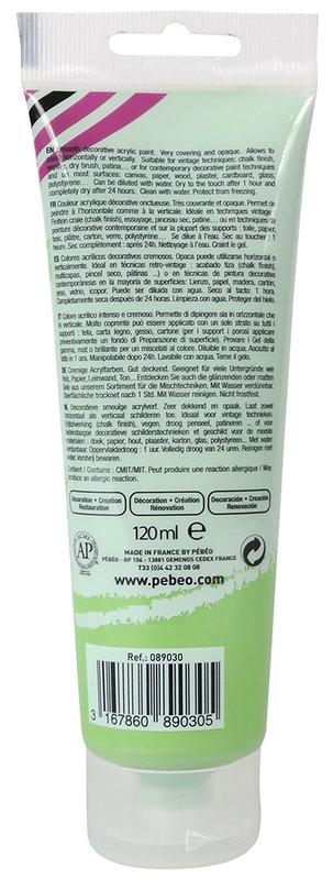 PEBEO Peinture acrylique decoCrème 120 ml - Vert clair