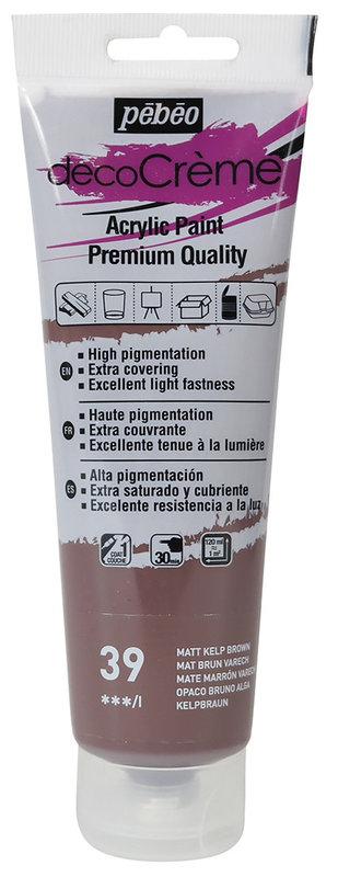 PEBEO Peinture acrylique decoCrème 120 ml - Varech