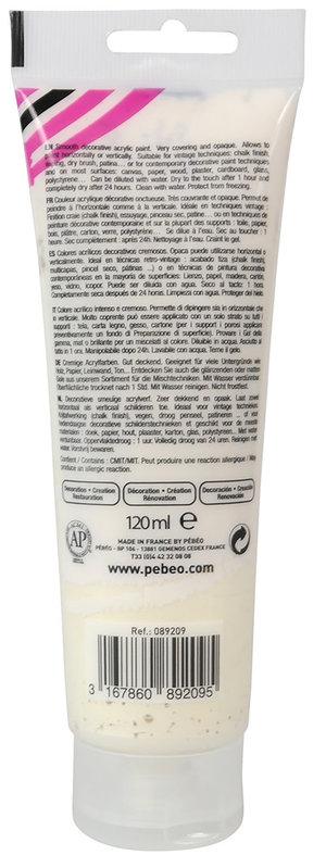 PEBEO Peinture acrylique decoCrème 120 ml - Nacré Or pâle