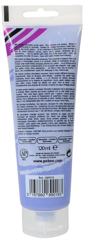 PEBEO Peinture acrylique decoCrème 120 ml - Iris