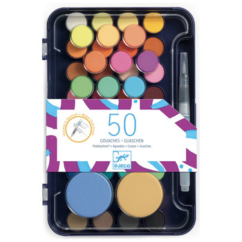 DJECO Palette d'artiste 50 gouaches