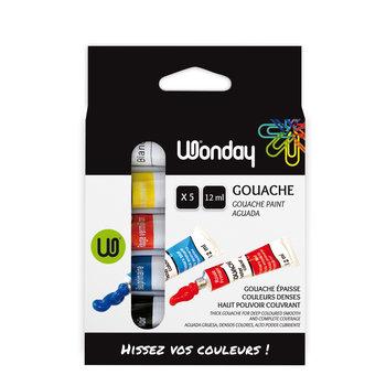 WONDAY Boite 5 Tubes 12ml Gouache