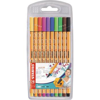 STABILO Etui chevalet x 10 stylos-feutres point 88 - coloris standard