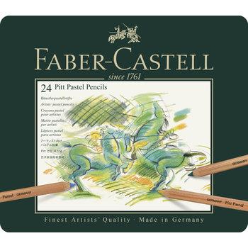 FABER CASTELL Crayons Pitt Pastel boîte métal x24
