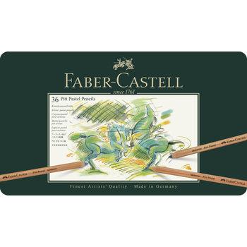 FABER CASTELL Crayons Pitt Pastel boîte métal x36