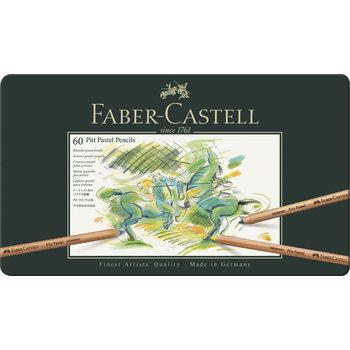 FABER CASTELL Crayons Pitt Pastel boîte métal x60
