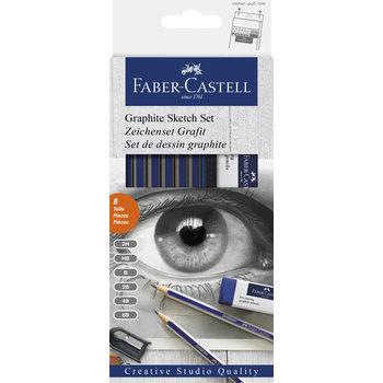 FABER CASTELL Set d'esquisses au crayon graphite x8