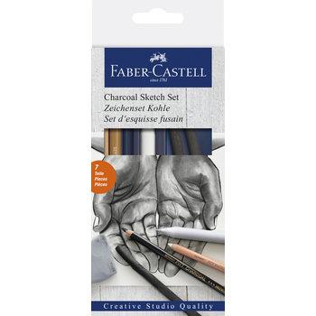 FABER CASTELL Set d'esquisses au fusain x6