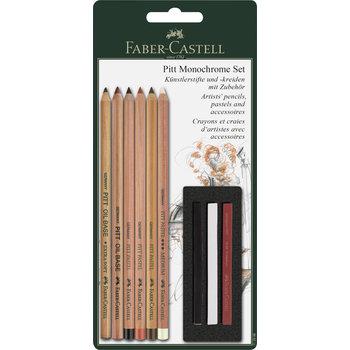 FABER CASTELL Crayons et craies Pitt Monochromel blister x9