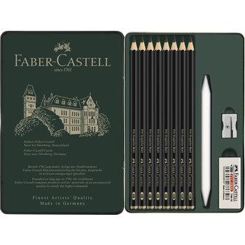 FABER CASTELL Set Crayons Pitt Graphite Matt boîte métal x11
