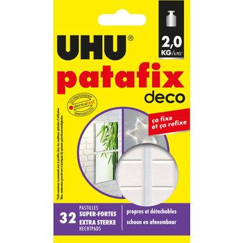 UHU PATAFIX DECO 32 pastilles prédécoupées super-fortes (jusqu'à 2 Kg) et repositionnables