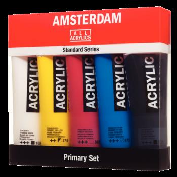 AMSTERDAM Amsterdam Acrylique  Boite Primaire 5X120Ml