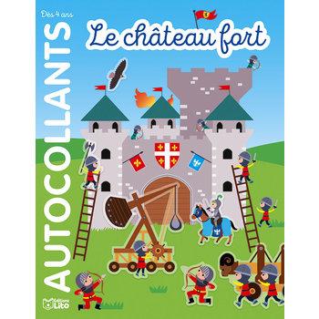 EDITIONS LITO Autocollants repositionnables 4 ans Le château fort