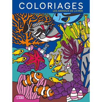 EDITIONS LITO Mes Grands Coloriages 6 ans Les animaux de la mer
