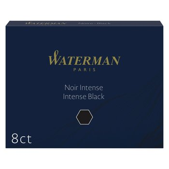 WATERMAN Etui de 8 Cartouches d'encre longue Noir